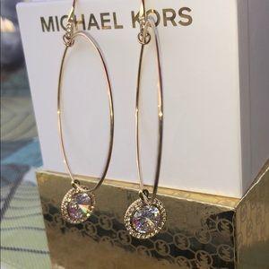 MK Michael Kors statement gold hoop earrings
